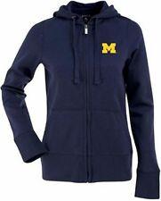 NWT Michigan Wolverines Full Zip Hooded Sweatshirt Antigua Womens L Alt Logo