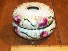 Vintage Porcelain Hair Receiver Dresser Jar