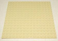 LEGO NEW 16 X 16 DOT 5 X 5 INCH TAN BASEPLATE PLATFORM PLATE PIECE