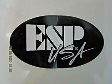 ESP USA GUITAR DECAL CASE RACK BUMPER STICKER ELECTRIC BASS NICE NEW VERY RARE