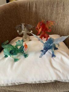Papo Fantasy World Dragon Figure Collectable bundle x 4