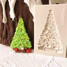 Árbol De Navidad Molde de Silicona Sugarcraft Pastel Fondant Chocolate Reposterìa Molde Herramienta