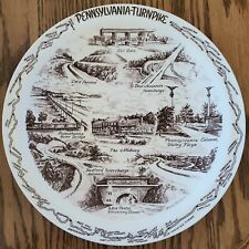 Pennsylvania Turnpike collector plate Vernon Kilns Howard Johnson's Bedford PA