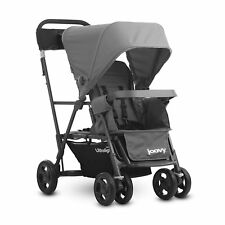 Joovy Caboose Ultralight Stand-On Tandem Lightweight Canopy Stroller, Charcoal
