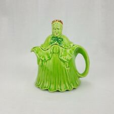 Vintage Little Old Lady Teapot Green Rare Made In England HJ Woods