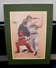 Mark McGwire Autographed HOME RUN Lithograph RARE Signed Limited Edition 1993