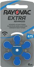 600 x Rayovac Hörgerätebatterien 675 Extra Advanced 1,45V 640mAh 675AUN-6XEMF