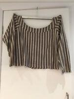 Vintage 80s Joseph Tricot  off shoulder blouse M to L  retro