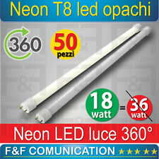 NEON LED TUBO LED  120 CM  T8 OPACHI CALDO FREDDO 220V LUCE 360 GRADI KIT 50 PZ