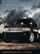 2008 Range Rover Supercharged - 2-page Advertisement Print Art Car Ad J884