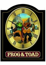FROG & TOAD Pub Sign WALL CLOCK | Home Bar, Man Cave, Pub Shed
