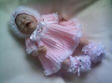 "KNITTING PATTERN BABY BABIES NEWBORN OR REBORN DOLL 17""-18"" Patt 29 Dress"