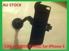 BLACK CAR MOUNT HOLDER CRADLE KIT FOR IPHONE 5 BRAND NEW