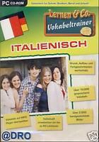 PC CD-ROM + Vokabeltrainer + Vokabeln + Italienisch + Lernen + Rechtschreibung
