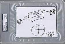 Ralph Baer Atari Video Game Inventor Signed Sketch Drawing Autograph PSA/DNA