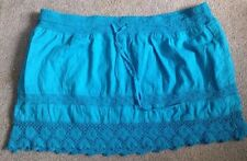 Empyre Embroidered Skirt, size Large Turquoise