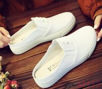 Tennis Girls Slipper Mule Platform Canvas Lace Up Shoes Hot Sale Women's Sneaker