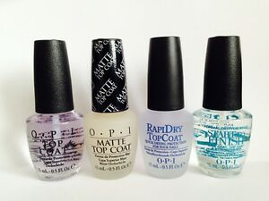 OPI Top Coat Collection Nail Varnish 15ml Bottles ***PERFECT CHRISTMAS GIFT***