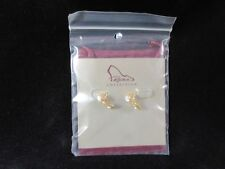 RAINE COLLECTION Just the Right Shoe Golden Sterling Silver Earrings NOS!!