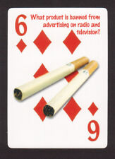 Cigarettes TV and Radio Advertising Banned Neat Playing Card #1Y7