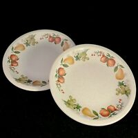 2 Wedgwood Quince Bread Plates Butter Fruit Ring Pasta England Apples Pears Dish
