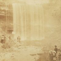 Minnehaha Falls Creek Regional City Park Minneapolis Minnesota MN Stereoview E29