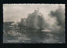 Sussex SEAFORD Rough Sea c1950/60s? RP PPC