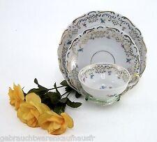 Sammelgedeck de PKE porcelaine Usine Chaux avec des fleurs & Chartreuse