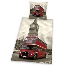 LONDON BUS DUVET COVER BEDDING SET NEW & SEALED 100% COTTON