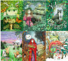 Six Womens Christmas cards UK artist dragon cat Wiccan Steampunk snow cheap