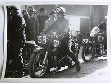 photo course MOTO a ROUEN ( 22 °circuit de Ht normandie ) vers 1960 SAROLEA