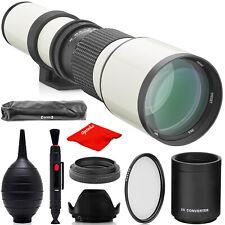 Opteka 500mm/1000mm Telephoto Lens for Canon EOS 4000D 2000D 1300D 1200D 1000D