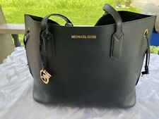 Michael Kors Women's Jet Set Large Tote Bag with Drawstring - Black