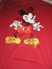 Men's Large Angry Mickey Mouse Red  Disney Tee Shirt NWT