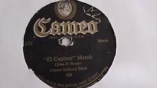 Cameo Military Band - 78rpm single 10-inch – Cameo #368 El Capitan March