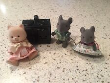 Vintage Bandi Maple Town Story Calico Critter 1986 Epoc Stove Mice Cat 4 pieces
