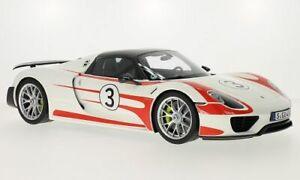 Porsche 918 Spyder, weiss/Dekor, Weissach Package, 1:12, GT Spirit