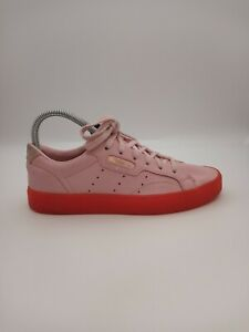 Adidas Originals Sleek Womens Size 6 Pink Red Casual Sneakers BD7475  Low Top