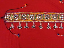 Goth banjara Gypsy women cowrie Belly Dance costume waist belt hip scarf India