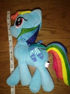 Rainbow Dash my little pony plush - blue with rainbow tail and mane