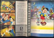 Quaderno,Pinocchio  n.3 ,Walt Disney, Cartiere Paolo Pigna   R