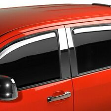 For Ford F-250 Super Duty 99-16 Window Visors In-Channel Element Chrome Front &