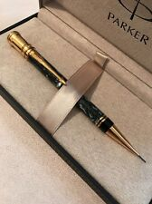 1993 PARKER DUOFOLD GREEN MARBLE GT 0.9MM MECHANICAL PENCIL-UK-BOXED-SUPERB