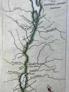 St. Lawrence River from Montreal to Quebec Three Rivers 1826 Throop mini map