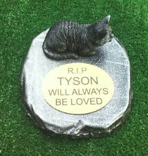 Cat Memorial  pet loss gift. Cat Loss Beloved pet -  Gravestone new 1