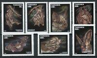 Tanzania Wild Animals Stamps 1995 MNH Bats Flying Mammals Fauna 7v Set
