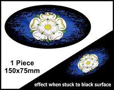 OVAL FADE TO BLACK Yorkshire ROSA contea di New York bandiera VINILE Auto Adesivo Decalcomania 150mm