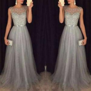 Abendkleid Grau In Brautjungfern Besonderne Anlasse Artikel Gunstig Kaufen Ebay