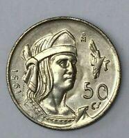 MEXICO 1951 Mexico Silver 50 Centavos Plata Coin