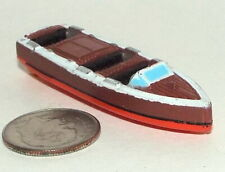 Small Micro Machine Old Wooden Style Speed Boat/ Indiana Jones & Last Crusade